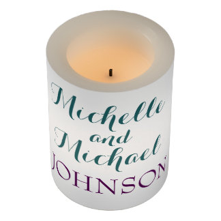 エレガントなティール(緑がかった色)のテーマの結婚の蝋燭 LEDキャンドル