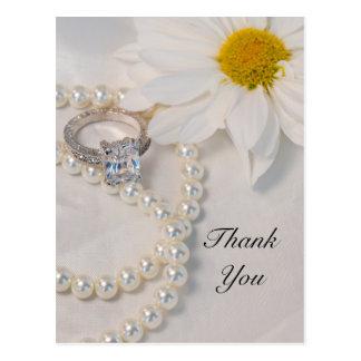 エレガントなデイジーの結婚式は郵便はがき感謝していしています ポストカード