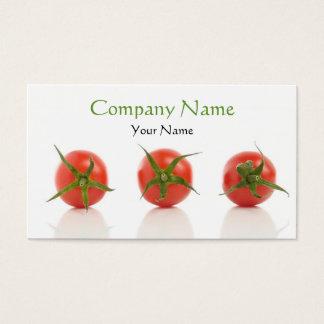 エレガントなトマトの写真の健康のオーガニックな農場 名刺