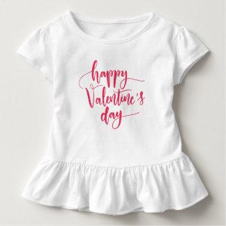 エレガントなハッピーバレンタインデー|のひだのティー トドラーTシャツ