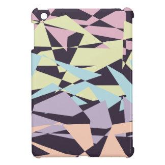 エレガントなパステルカラーのブロックの幾何学的な三角形 iPad MINI カバー