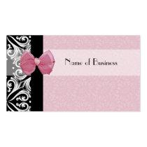 エレガントなパリのダマスク織のピンクのリボン