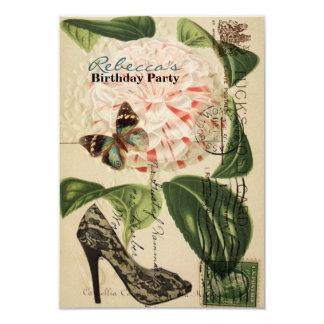エレガントなパリの小剣のヴィンテージの誕生会 カード