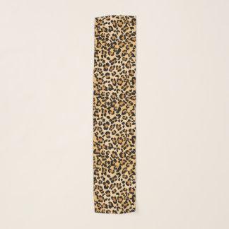 エレガントなヒョウのアニマルプリントパターン スカーフ