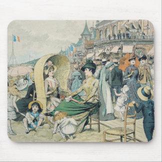 エレガントなビーチ1887年 マウスパッド
