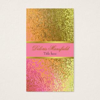 エレガントなピンクおよび金ゴールドホイルの一見の名刺 名刺