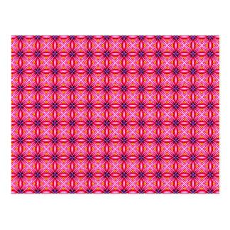 エレガントなピンクのくも花の花びらパターン ポストカード