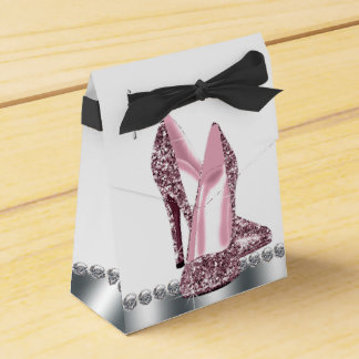 エレガントなピンクのグリッターのハイヒールの靴 フェイバーボックス