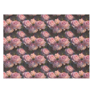 エレガントなピンクのバラ園の装飾のカスタムなテーブルクロス テーブルクロス
