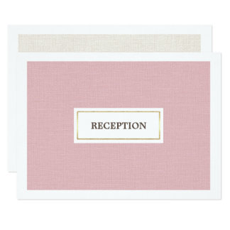 エレガントなピンクのバーラップパターン結婚披露宴カード 8.9 X 12.7 インビテーションカード