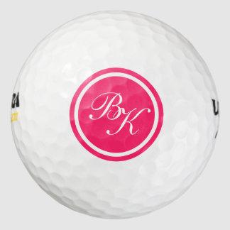 エレガントなピンクのモノグラムのスタイル ゴルフボール