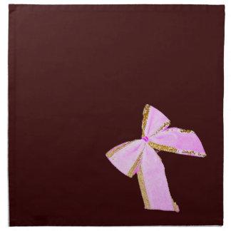エレガントなピンクの弓ナプキンセット ナプキンクロス