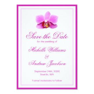エレガントなピンクの蘭のセーブ・ザ・デート案内 カード