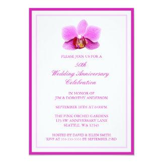エレガントなピンクの蘭第50の結婚記念日 カード