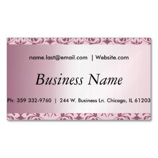 エレガントなピンクの電気石のダマスク織 マグネット名刺