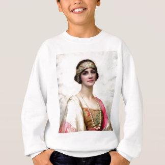 エレガントなファッションの女性の絵画 スウェットシャツ