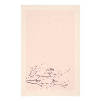 エレガントなフェルトの桜の文房具 便箋