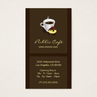 エレガントなブラウンチョコレートカフェの名刺 名刺