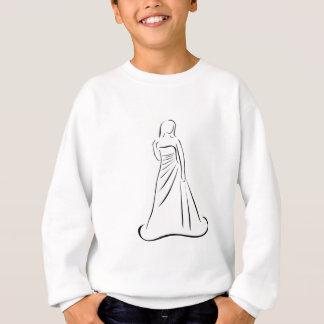 エレガントなヘアスタイルの花嫁 スウェットシャツ
