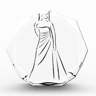 エレガントなヘアスタイルの花嫁 表彰盾