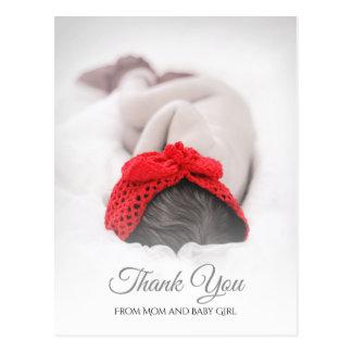 エレガントなベビーシャワーの生まれたばかりのな写真は感謝していしています ポストカード