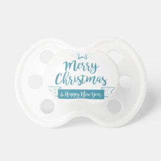 エレガントなメリークリスマス及び明けましておめでとうのシンプル おしゃぶり