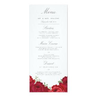 エレガントなメーソンジャーの結婚式メニュー カード