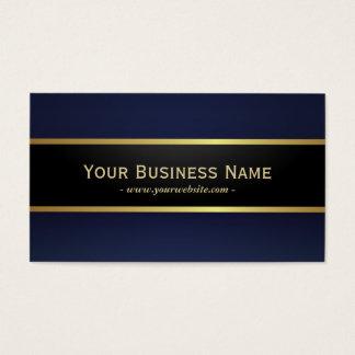 エレガントなモダンな濃紺のプロフェッショナル 名刺