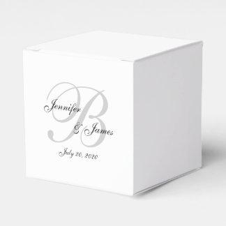 エレガントなモノグラムの結婚式の引き出物箱 フェイバーボックス