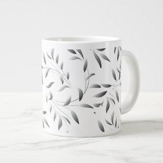 エレガントなヤナギの葉パターン ジャンボコーヒーマグカップ