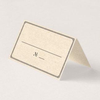 エレガントなヴィンテージのアールデコの場所/護衛カード プレイスカード