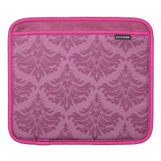 エレガントなヴィンテージのダマスク織のピンクの女の子らしい女の子のiPadの袖 iPadスリーブ
