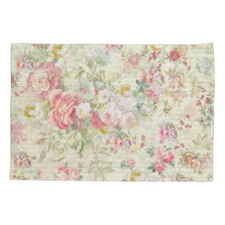 エレガントなヴィンテージのピンクのパステル調の花パターン 枕カバー