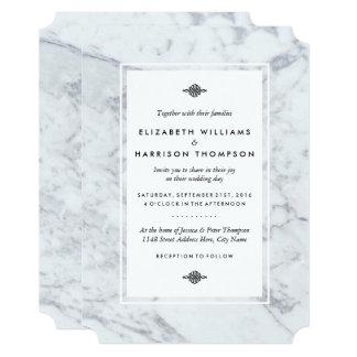エレガントなヴィンテージの大理石の結婚式 カード