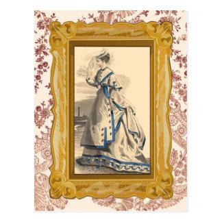 エレガントなヴィンテージの女性 ポストカード