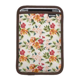 エレガントなヴィンテージの水彩画の花模様 iPad MINIスリーブ