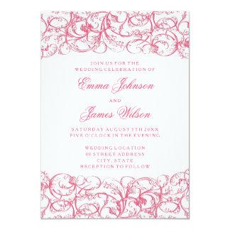 エレガントなヴィンテージの渦巻のロココの結婚式招待状 カード