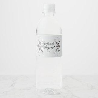 エレガントなヴィンテージの灰色 ペットボトルラベル
