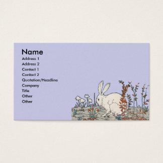 エレガントなヴィンテージの白のウサギ 名刺