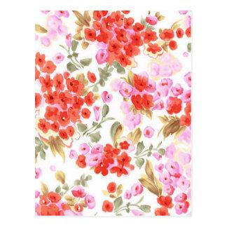 エレガントなヴィンテージの穏やかな花柄 ポストカード