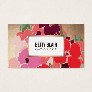 エレガントなヴィンテージの色彩の鮮やかな花の芸術デザイナー 名刺