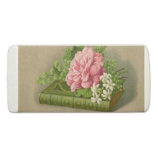 エレガントなヴィンテージの花のシャクヤクの上品な本 消しゴム