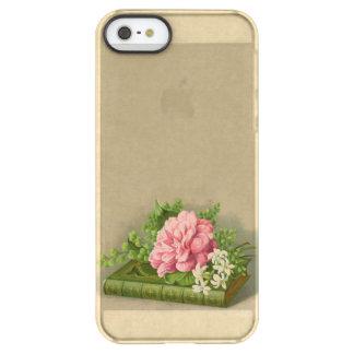 エレガントなヴィンテージの花のシャクヤクの上品な本 PERMAFROST iPhone SE/5/5sケース