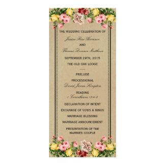 エレガントなヴィンテージの花の結婚式のコレクション ラックカード