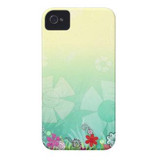 エレガントなヴィンテージの花の緑 Case-Mate iPhone 4 ケース