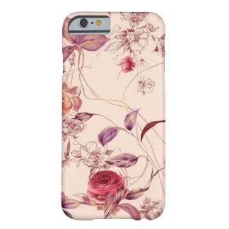 エレガントなヴィンテージの花柄のばら色のiPhone6ケース Barely There iPhone 6 ケース