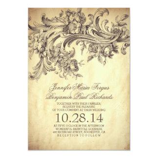 エレガントなヴィンテージの華麗さおよび贅沢な結婚式 カード