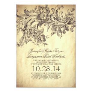 エレガントなヴィンテージの華麗さおよび贅沢な結婚式 招待状