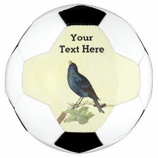 エレガントなヴィンテージの黒の鳥の黄色 サッカーボール