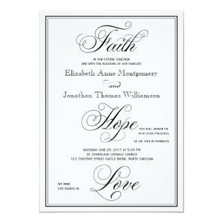 エレガントな信頼の希望愛原稿の結婚式招待状 カード